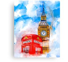 London Dreams - Big Ben & An Iconic Red Telephone Box Canvas Print