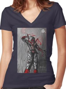 Storm Shadow Women's Fitted V-Neck T-Shirt