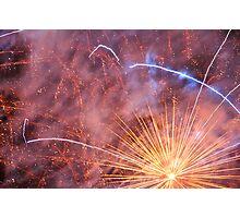 A Zig Zag Firework Flower Photographic Print