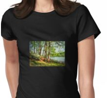 Triadelphia Lake In May Womens Fitted T-Shirt