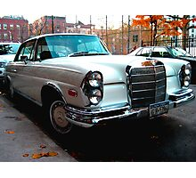 White Mercedes Benz Photographic Print