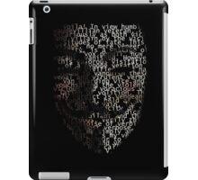 You may call me V. iPad Case/Skin