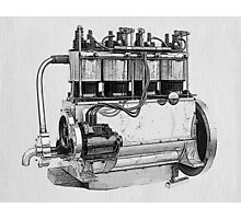 Antique Engine Photographic Print