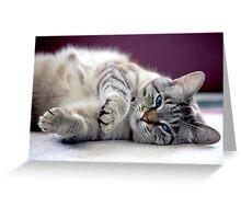 Lazy Greeting Card