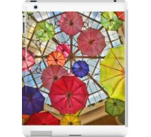 Colorful awesome umbrellas in the sky iPad Case/Skin