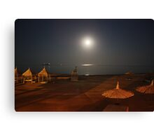 Moon rising over the Red Sea in Egypt Canvas Print