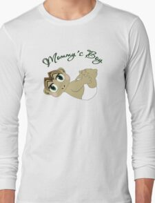 Mommy's Boy Brown Hair and Green Eyes T-Shirt