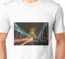 Light Trails on Tower Bridge, London Unisex T-Shirt