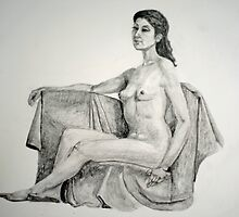 Studio Escalier, Argenton-Chateau (Diedre) in a Roman Pose by Phyllis Dixon
