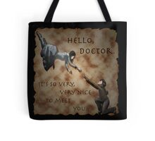 Hello, Doctor. Tote Bag