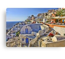 A Summers day in Greece Canvas Print
