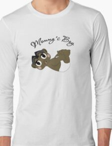 Mommy's Boy Black Hair and Brown Eyes T-Shirt