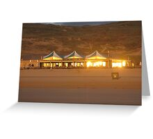 BAR ON THE BEACH Greeting Card