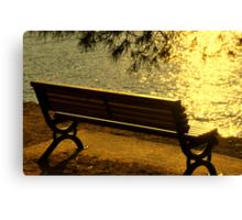 SKIATHOS - Golden shimmering  Canvas Print