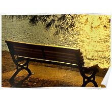 SKIATHOS - Golden shimmering  Poster