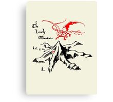 Lonely Mountain, Smaug, The Hobbit, LOTR Canvas Print
