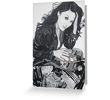 Biker Chic Greeting Card