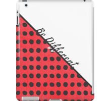 """""""Be Different."""" Typography on Red Black Polka Dots iPad Case/Skin"""