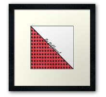 """Be Different."" Typography on Red Black Polka Dots Framed Print"