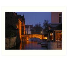 Bridge un Bruges (Belgium) Art Print