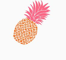 Bright Pineapple Pineapples Hot Pink Neon Fluorescent Orange  Unisex T-Shirt