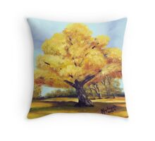Old Cottonwood ~ Southwest Landscape ~ Oil Painting Throw Pillow