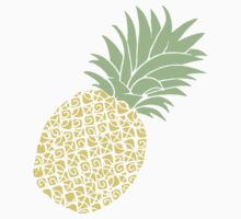 Bright Pineapple Pineapples Traditional Pastel Yellow Green  Kids Clothes