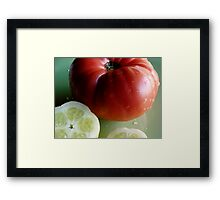 garden fresh Framed Print