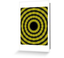 In Circles (Yellow Version) Greeting Card