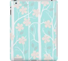 Blossoms on mint iPad Case/Skin