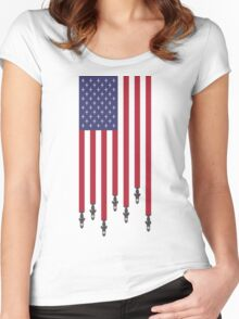 United States of Airstrikes Women's Fitted Scoop T-Shirt