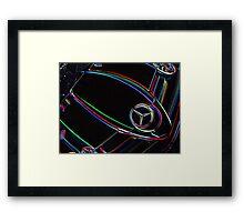 Neon Mercedes SLR Framed Print