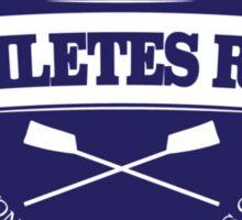 Real Athletes Row Sticker