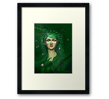Green Nature Fairy Framed Print