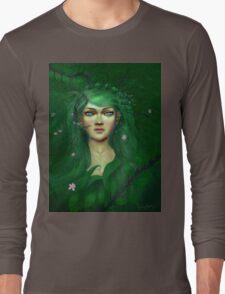 Green Nature Fairy Long Sleeve T-Shirt