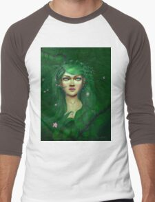 Green Nature Fairy Men's Baseball ¾ T-Shirt