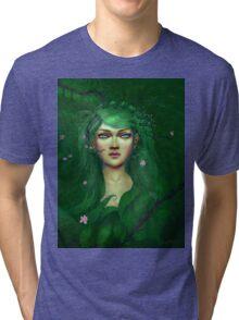 Green Nature Fairy Tri-blend T-Shirt