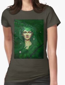 Green Nature Fairy Womens Fitted T-Shirt