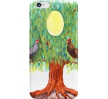 Family tree egg painting iPhone Case/Skin