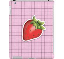 aesthetic strawberry emoji on grid tumblr iPad Case/Skin