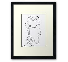 Luly says bye Framed Print