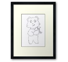 Luly is happy Framed Print
