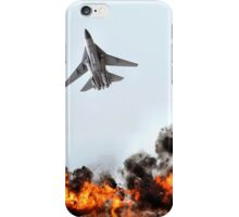 F111 with Fire, Adelaide Air Show  iPhone Case/Skin