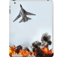 F111 with Fire, Adelaide Air Show  iPad Case/Skin