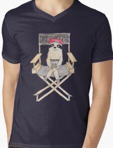 Movie Director Sloth Mens V-Neck T-Shirt