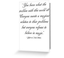 What's the problem? Greeting Card