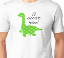 """Nessie"" Lochness Monster Green Polka Dots Dotted Bright Cute Mythical Creature Unisex T-Shirt"