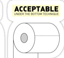 How To Toilet Paper Sticker