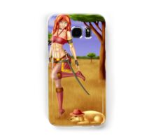 Shayla and Zulu in the Savanna Samsung Galaxy Case/Skin
