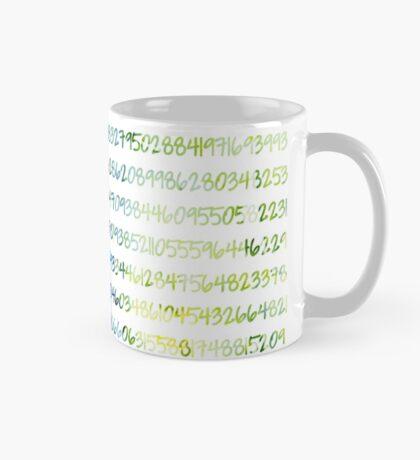 Digits of Pi (Green & Blue) Mug